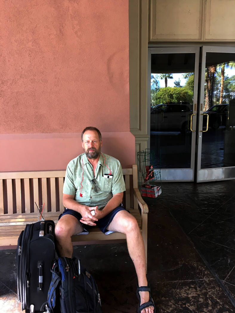 Eric Paddock, brother of Strip shooter Stephen Paddock, at an undisclosed Las Vegas hotel Sunday, Oct. 8, 2017. He came to Las Vegas that weekend to cooperate with investigators. (Jeff German)
