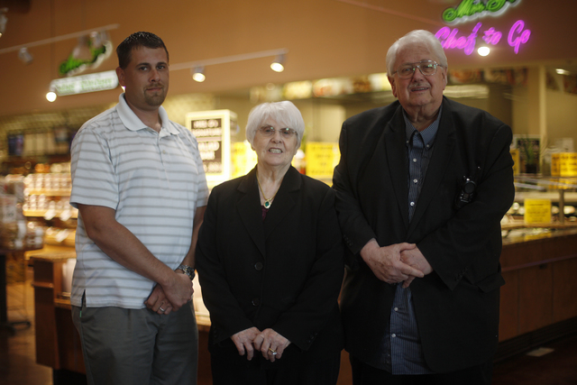 William Megill, from left, Helen Glazier, and William Glazier pose for a photo on Monday, Nov. 14, 2016, at Glazier Food Marketplace in Las Vegas. Rachel Aston/Las Vegas Review-Journal Follow @roo ...