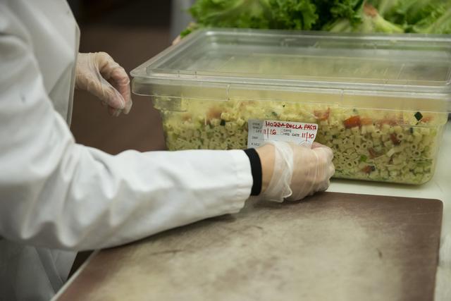 Sandra Radosavkic labels a pasta container at Glazier's food marketplace on Thursday, Nov. 10, 2016, in Las Vegas. Erik Verduzco/Las Vegas Review-Journal Follow @Erik_Verduzco