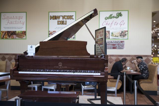 An electronic piano auto plays music for customers at Glazier's food marketplace on Thursday, Nov. 10, 2016, in Las Vegas. Erik Verduzco/Las Vegas Review-Journal Follow @Erik_Verduzco