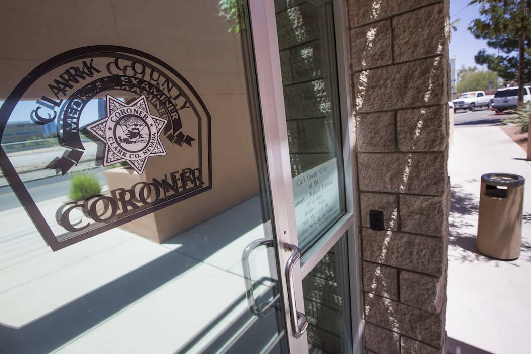 The Clark County Coroner's office (Richard Brian/Las Vegas Review-Journal) @vegasphotograph