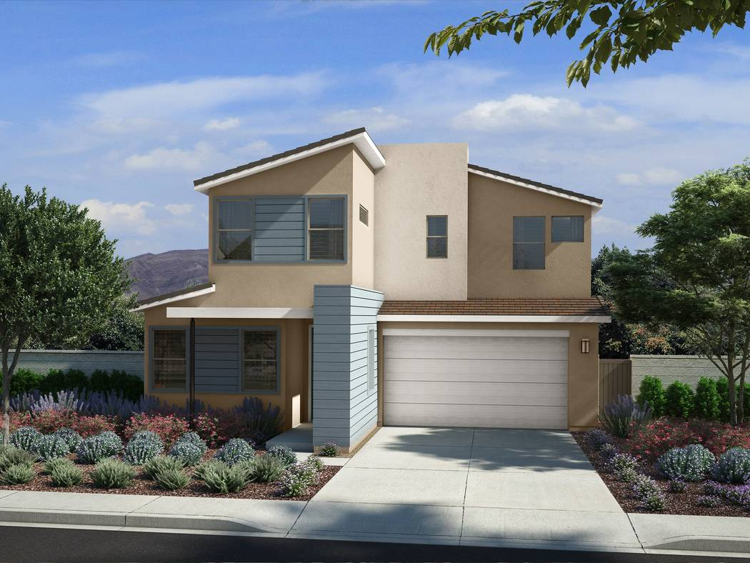 Pardee Homes will open Linea in Insprada in late January. Shown is a rendering of Linea Plan Two in the Nevada Living elevation. (Pardee Homes)