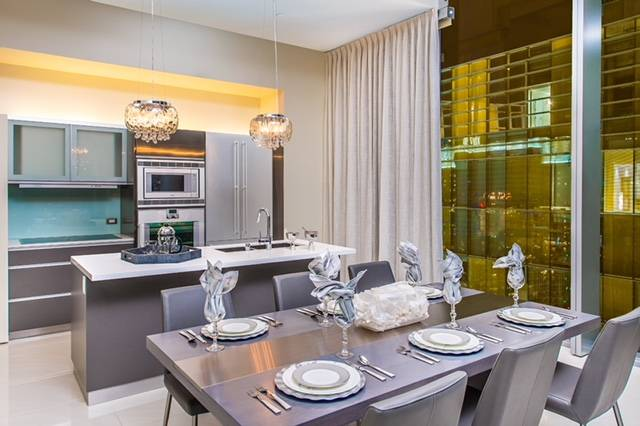 The Veer Towers penthouse features a kitchen with a modern design. (Veer Towers)