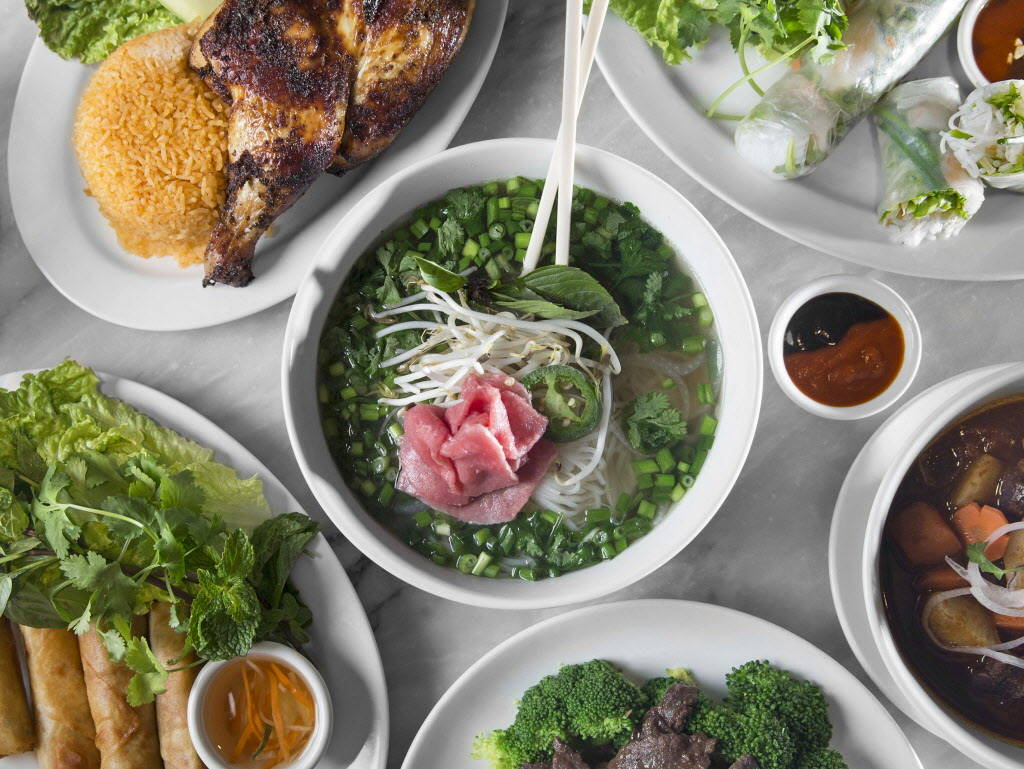 Beef pho, middle, at The Coffee Shop on Friday, January 5, 2018, at Treasure Island hotel-casino, in Las Vegas. Benjamin Hager Las Vegas Review-Journal @benjaminhphoto