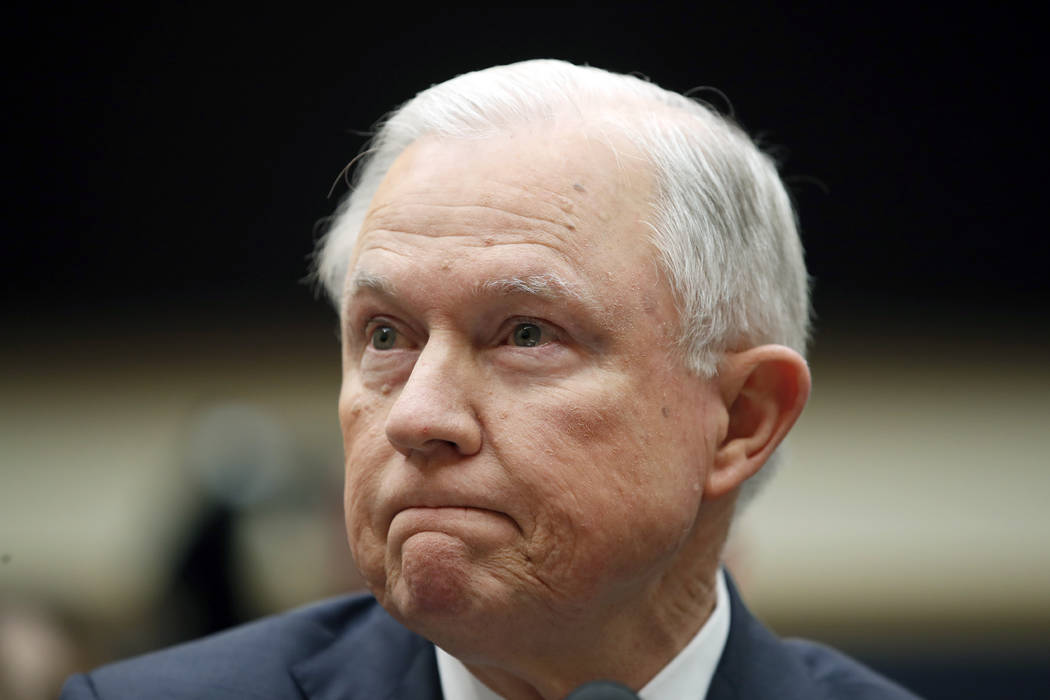 Attorney General Jeff Sessions listens during a House Judiciary Committee hearing on Capitol Hill, Tuesday, Nov. 14, 2017, in Washington. (Alex Brandon/AP)