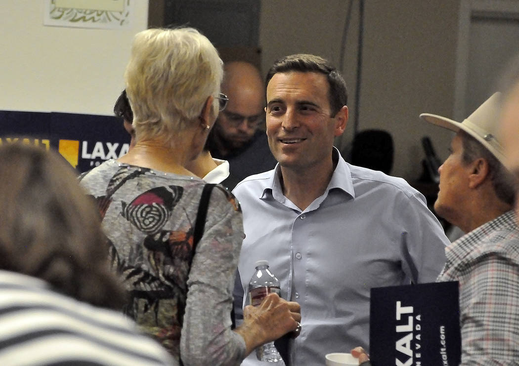 """Horace Langford Jr./Pahrump Valley Times -   Nevada Attorney General Adam Laxalt rounded up his gubernatorial tour """"The Laxalt 17"""" with a stop in Pahrump on Tuesday night after visiting all of Nev ..."""