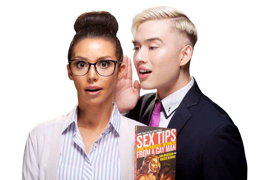 """Scheana Shay and Chester Lockhart co-star in """"Sex Tips For a Straight Woman From a Gay Man"""" at Paris Las Vegas through May 6. (SPI Entertainment)"""