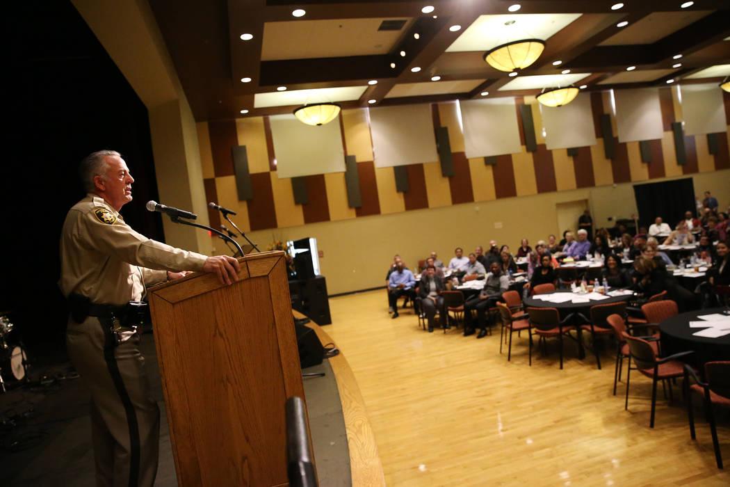 Sheriff Joe Lombardo during the City Wide Unity Celebration at the Historic Fifth Street School in Las Vegas, Saturday, Jan. 13, 2018. Erik Verduzco Las Vegas Review-Journal @Erik_Verduzco