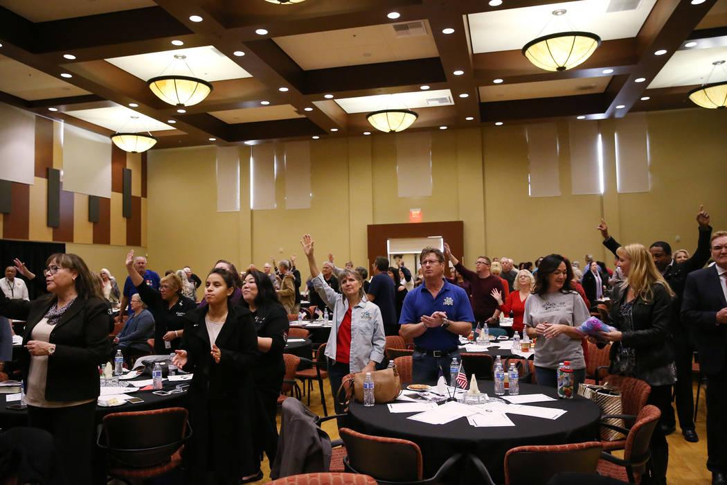 People attend the City Wide Unity Celebration at the Historic Fifth Street School in Las Vegas, Saturday, Jan. 13, 2018. Erik Verduzco Las Vegas Review-Journal @Erik_Verduzco
