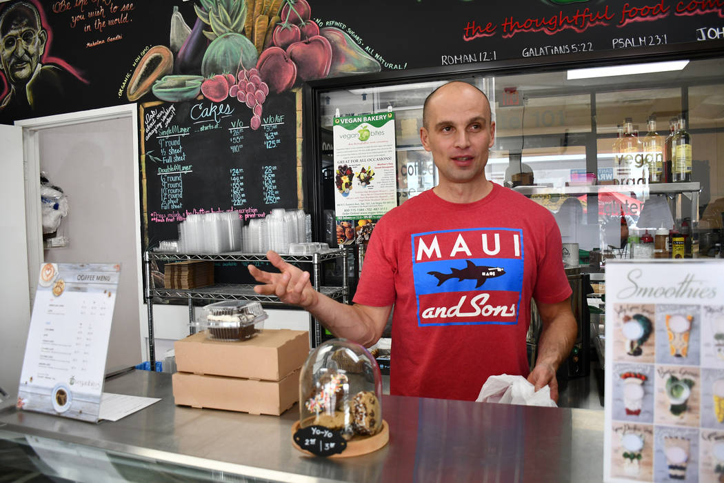 Franz Stanik, owner of Veganbites Bakery, which offers vegan and gluten-free products, said he is currently working on a franchise agreement for his business. The location which makes custom produ ...