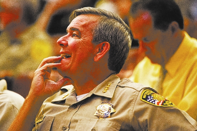 Clark County Sheriff Doug Gillespie said Tuesday he'll continue talking with county commissioners to reach a consensus on sales tax increases. (Las Vegas Review-Journal file photo)