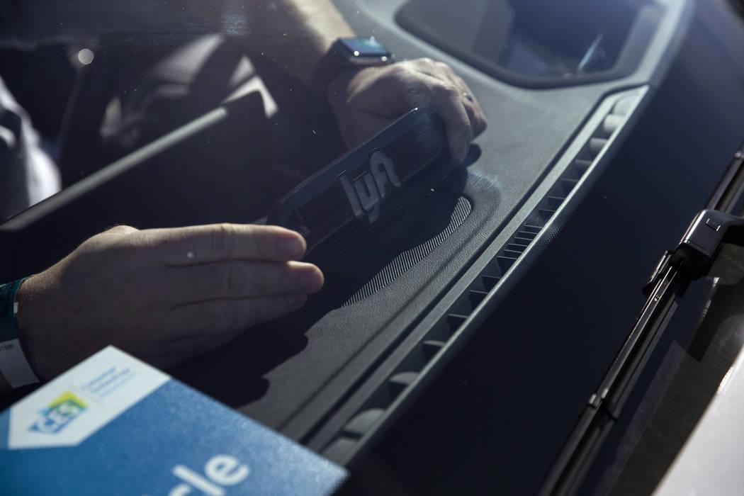 An Aptiv and Lyft autonomous vehicle outside of the Las Vegas Convention Center in advance of CES in Las Vegas, Sunday, Jan. 7, 2018. Erik Verduzco/Las Vegas Review-Journal