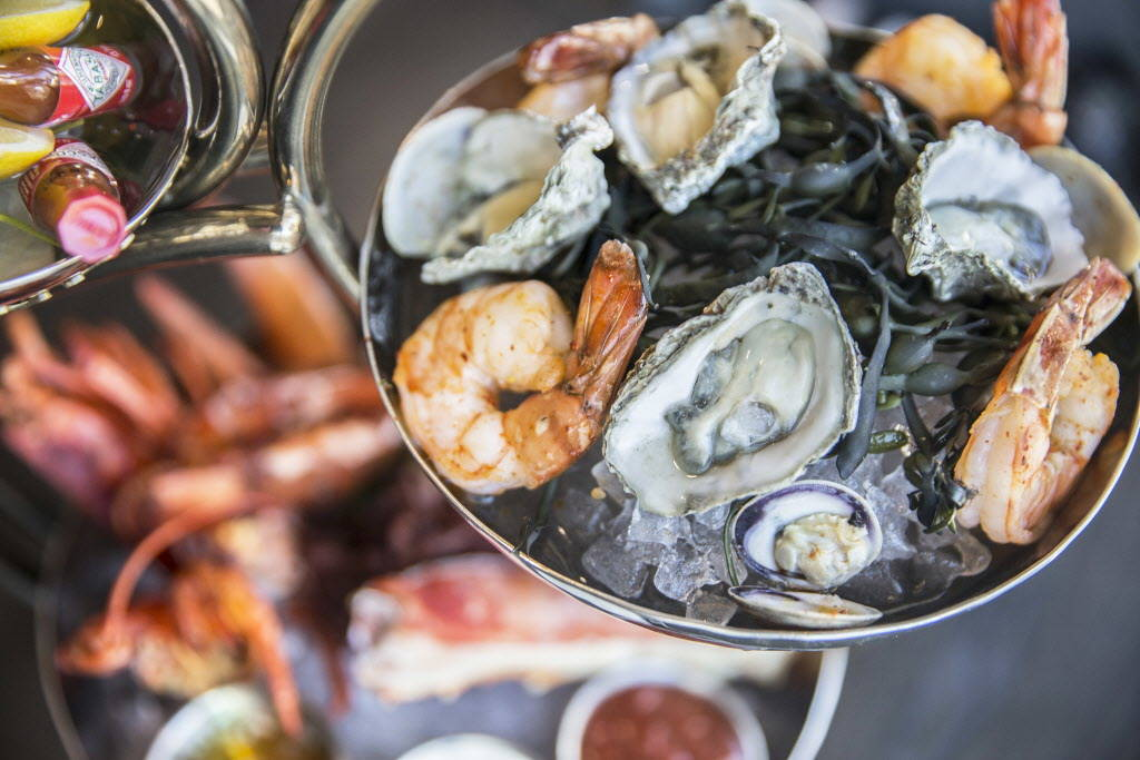 HK grand shellfish tower at Hell's Kitchen on Sunday, January 7, 2018, at Caesars Palace hotel-casino, in Las Vegas. Benjamin Hager Las Vegas Review-Journal @benjaminhphoto