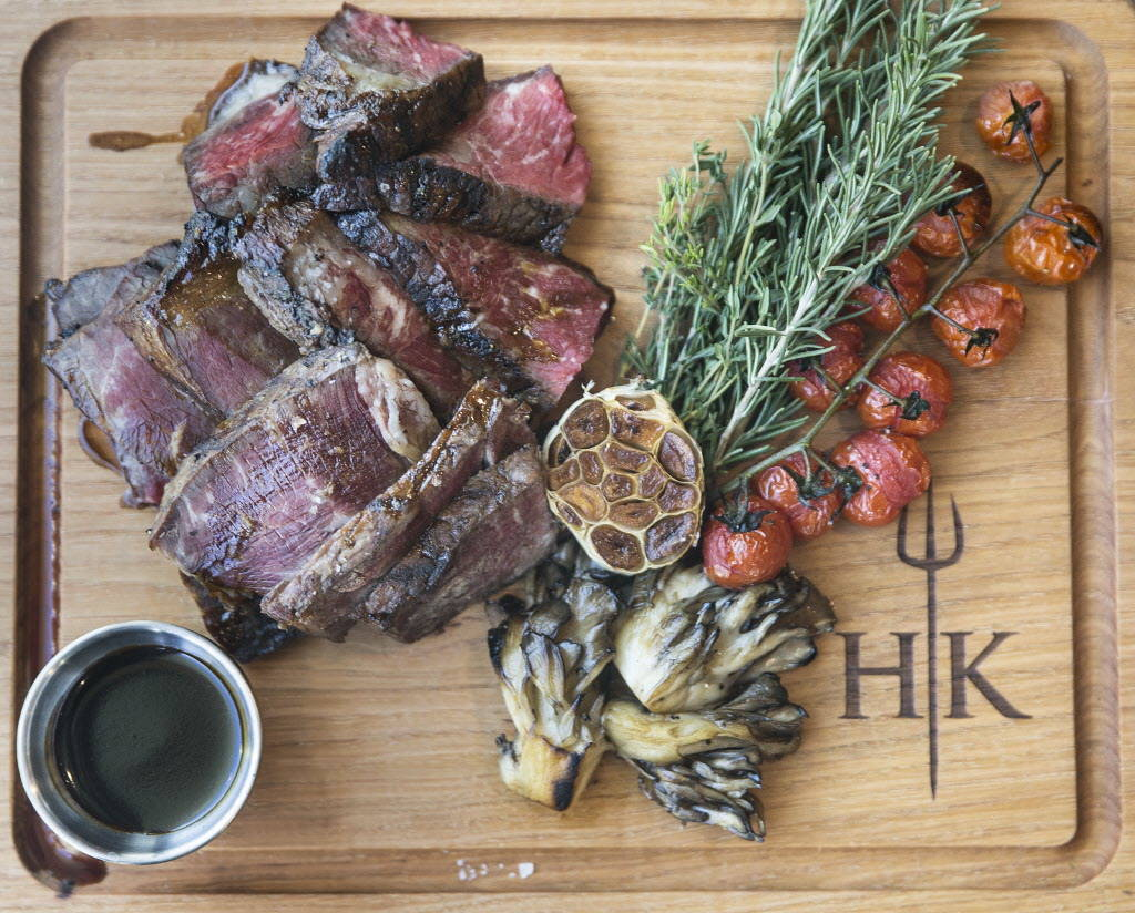 30 day dry aged porterhouse at Hell's Kitchen on Sunday, January 7, 2018, at Caesars Palace hotel-casino, in Las Vegas. Benjamin Hager Las Vegas Review-Journal @benjaminhphoto