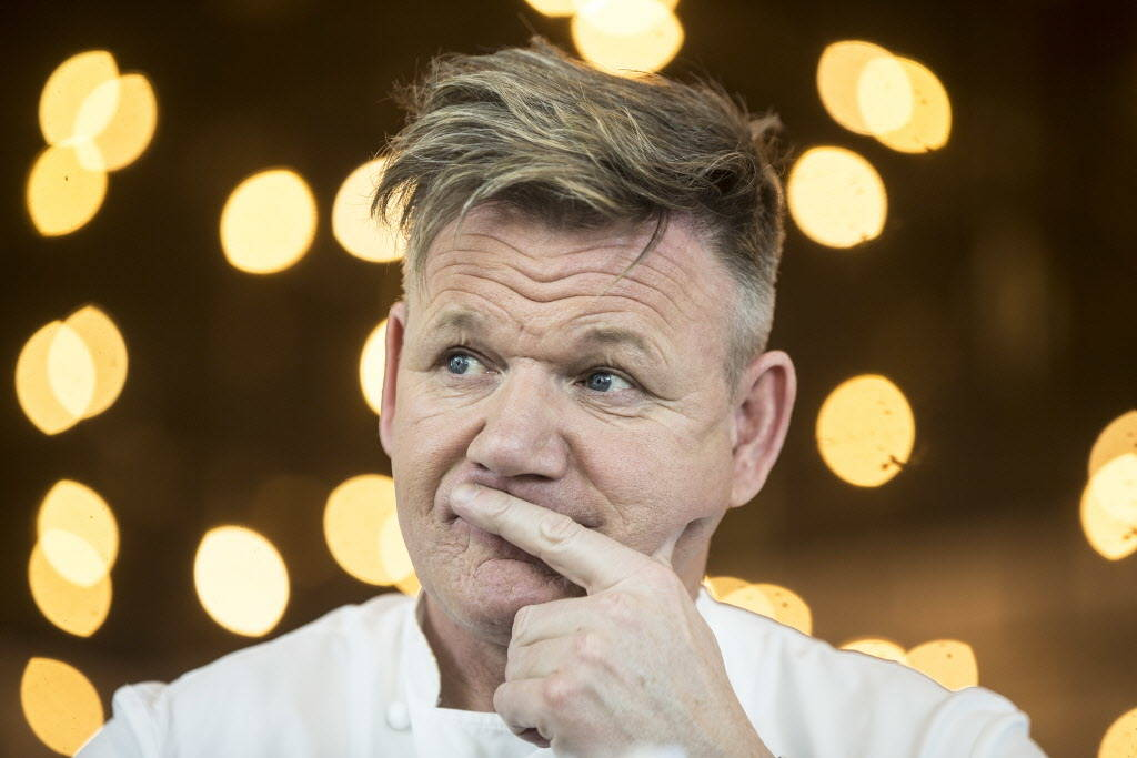 Celebrity chef Gordon Ramsay during a walk through of his new Strip restaurant Hell's Kitchen on Sunday, January 7, 2018, at Caesars Palace hotel-casino, in Las Vegas. Benjamin Hager Las Vegas Rev ...