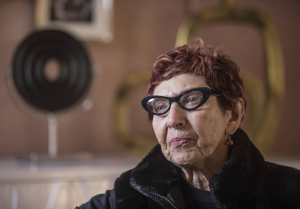 Las Vegas Urban Adventures tour guide Babs Daitch was an actress and social secretary for Frank Sinatra and then wife Mia Farrow. Photo taken on Friday, January 5, 2018, at the El Cortez hotel-cas ...