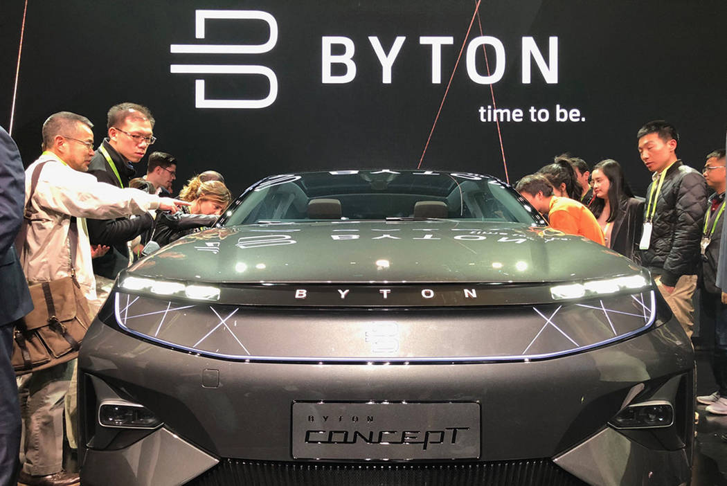Meet the Byton concept auto, an electric SUV coming in 2019