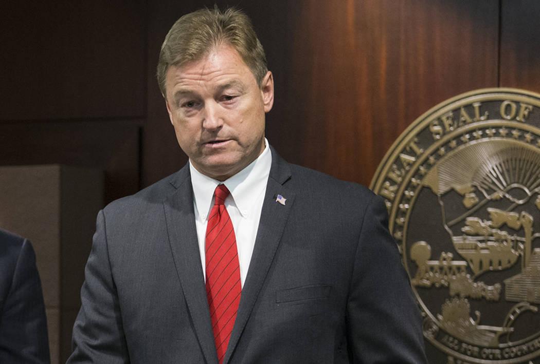 Nevada Sen. Dean Heller, seen in June 2017. (Las Vegas Review-Journal)