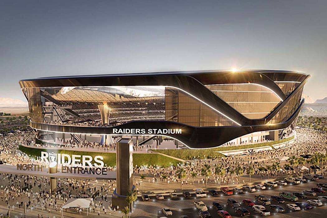 Rendering of proposed Raiders Stadium in Las Vegas (MANICA Architecture)