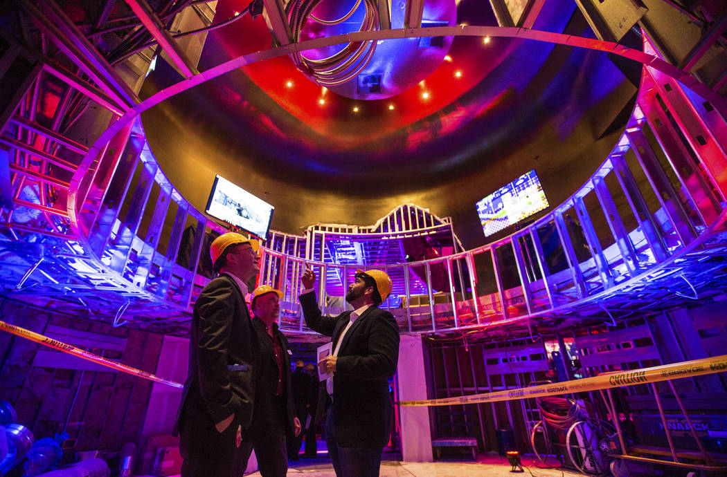 Attendees tour the soon-to-be-completed eSports Arena at the Luxor hotel-casino on Wednesday, January 10, 2018, in Las Vegas. Benjamin Hager Las Vegas Review-Journal @benjaminhphoto
