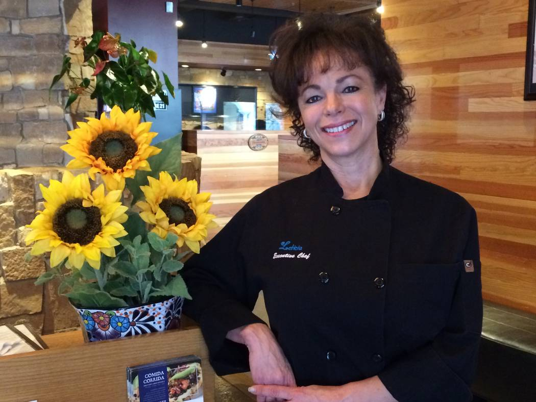 Leticia Mitchell, owner and chef, posed in the foyer of her self-named restaurant in Tivoli Village Jan. 8, 2018. Her first eatery has enjoyed nine years of success in the Centennial area. In fall ...