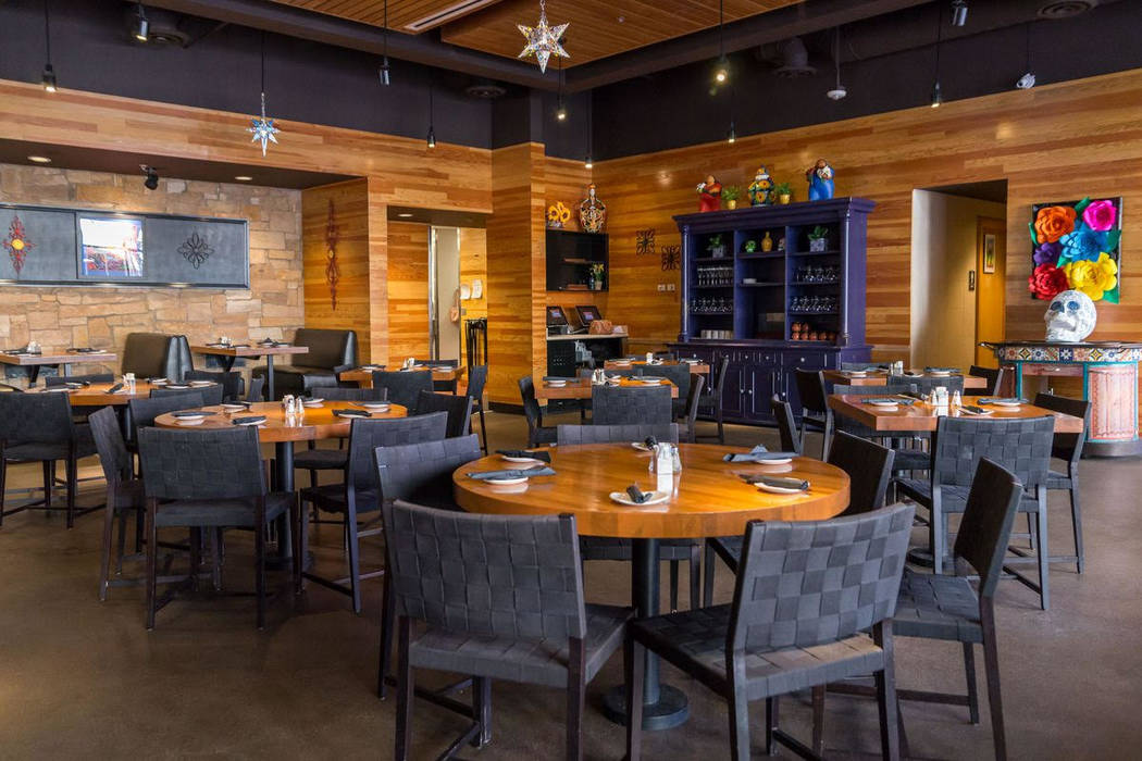 The interior of Leticia's features wood with stacked stone accents. At 6,200 square feet, it's plenty big for over-sized parties of diners. (Leticia's)