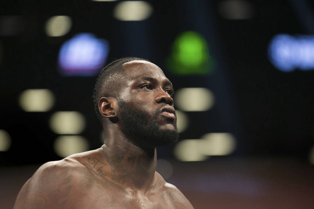 Deontay Wilder paces the ring before a boxing bout against Bermane Stiverne for the WBC heavyweight title Saturday, Nov. 4, 2017, in New York. Wilder knocked out Stiverne in the first round. (AP P ...