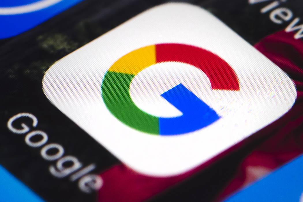 The Google mobile phone icon, in Philadelphia, April 26, 2017.  (Matt Rourke/AP Photo, File)