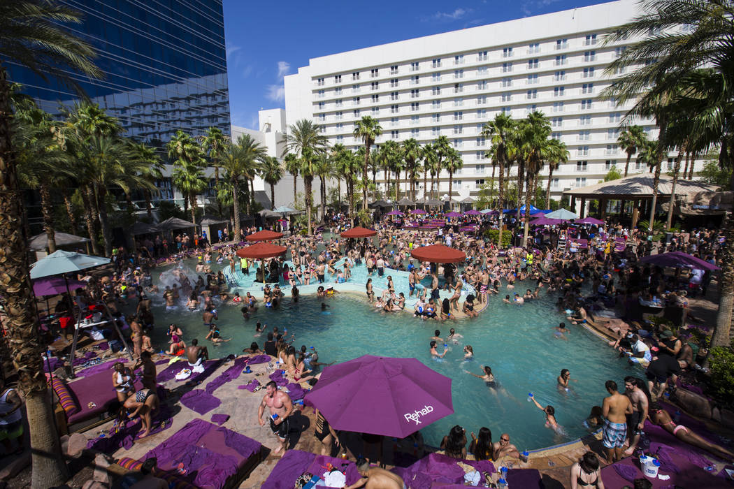 Rehab dayclub at Hard Rock Hotel in Las Vegas on Saturday, June 24, 2017. (Chase Stevens/Las Vegas Review-Journal) @csstevensphoto