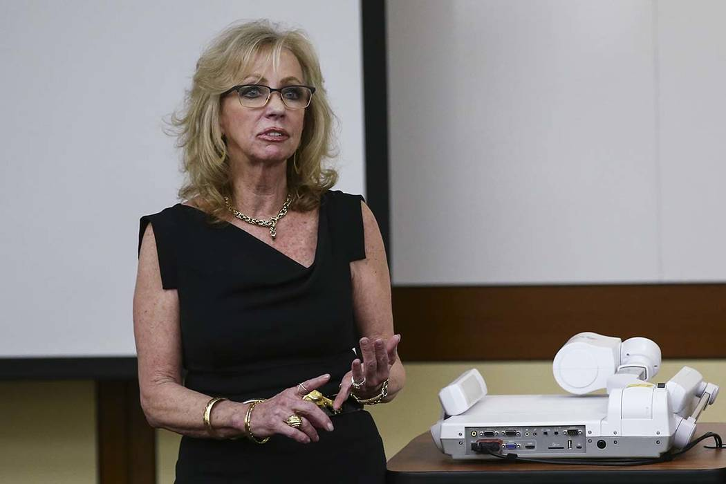 Former Las Vegas mayor and current Caesars Entertainment executive Jan Jones Blackhurst is chairwoman of the Vegas Strong Fund. Tuesday, April 18, 2017. Chase Stevens Las Vegas Review-Journal @css ...