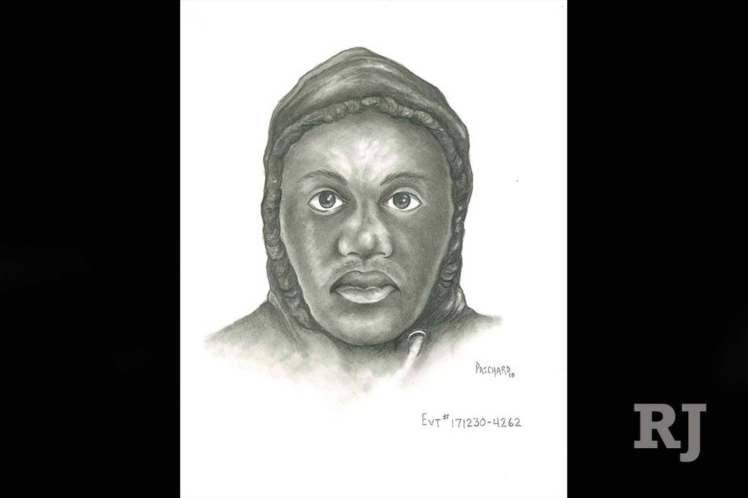 Las Vegas police on Monday released a sketch of a man suspected of trying to sexually assault a woman as she returned home from taking out the trash late last month. (Las Vegas Metropolitan Police)