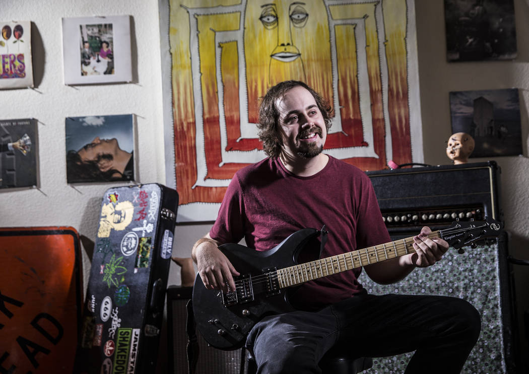 Las Vegas musician Kevin Kilfeather at his home on Thursday, September 28, 2017. Benjamin Hager Las Vegas Review-Journal @benjaminhphoto