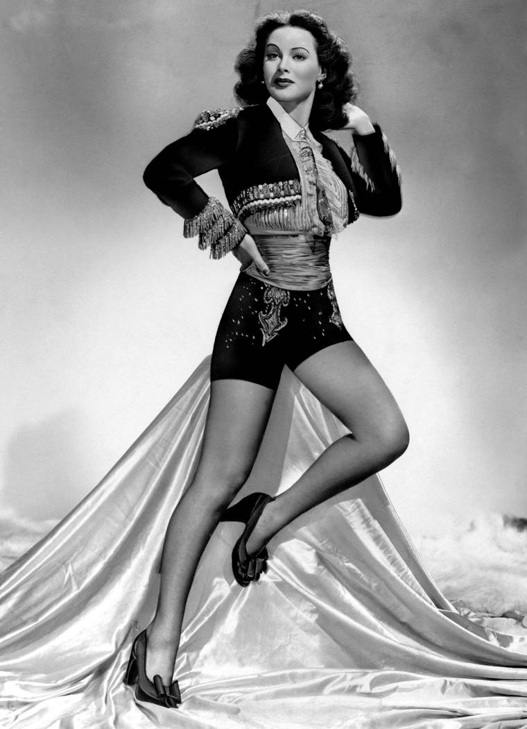 """It is purely coincidental that Hedy Lamarr posed for """"Leg Art"""" for the first time in her career during the filming of Metro-Goldwyn-Mayer's """"The Heavenly Body, &quot ..."""