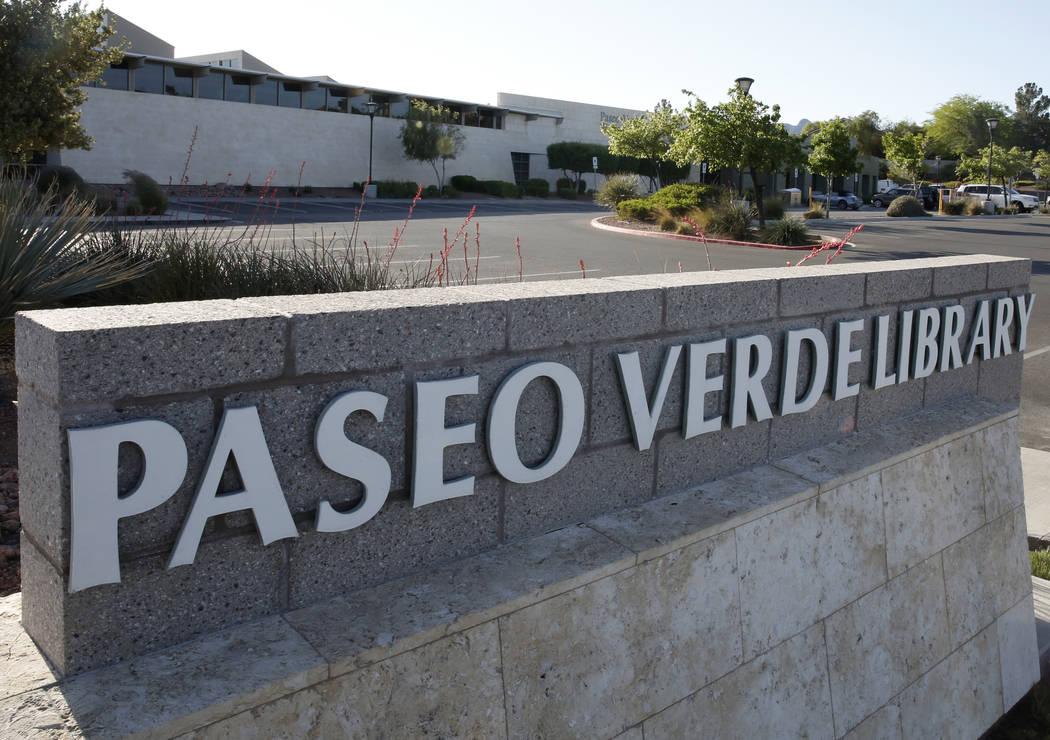 Paseo Verde Library in Henderson on Thursday, April 13, 2017. Bizuayehu Tesfaye Las Vegas Review-Journal @bizutesfaye