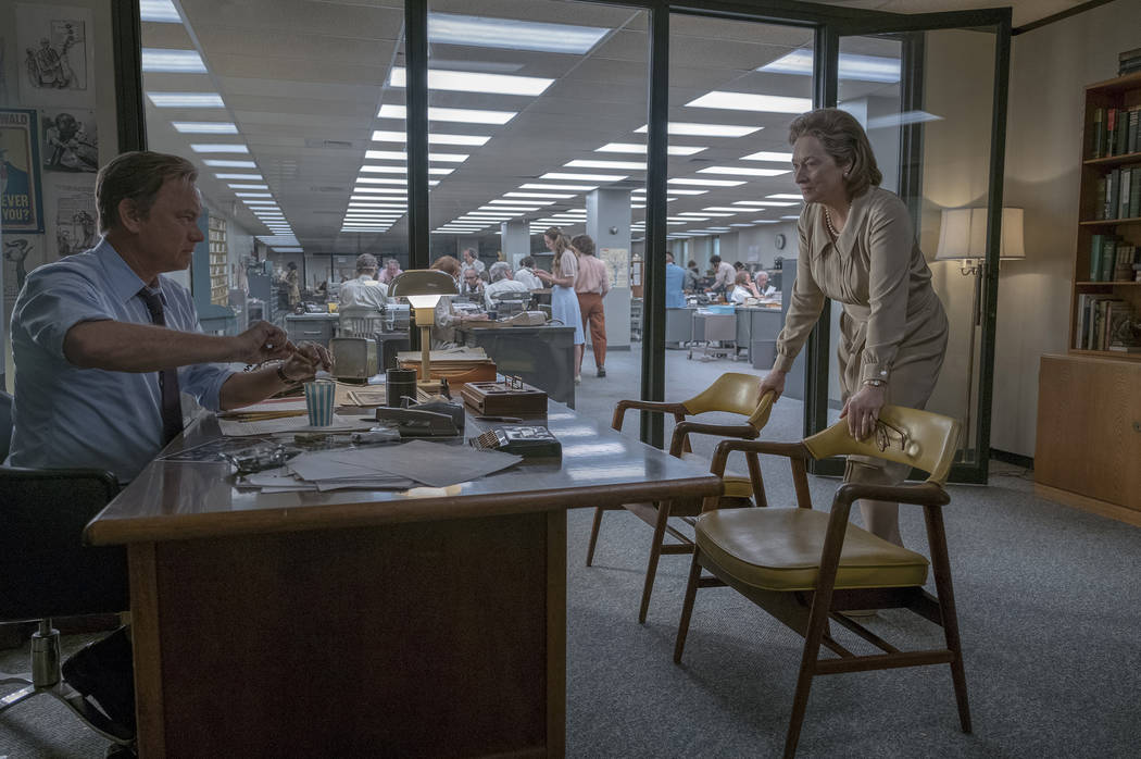 "Tom Hanks (as Ben Bradlee) and Meryl Streep (as Kay Graham) star in Twentieth Century Fox's ""The Post."" Niko Tavernise."