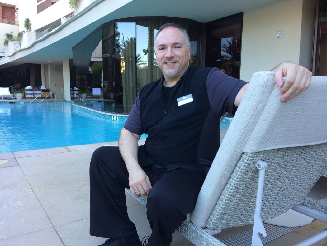 Ron Seykell  poses Oct. 27, 2017, at Red Rock Resort's spa where he is a massage therapist. He works with more Cirque than he can count, he said, as well as headliners, rock bands, MMA fighters  ...
