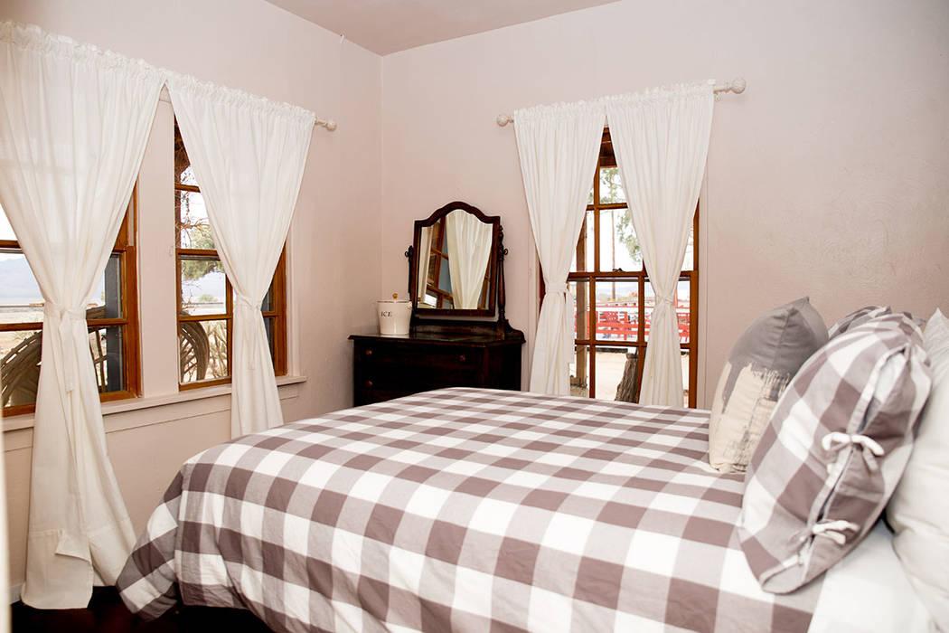 The tiny hotel is open in Nipton. (Tonya Harvey)
