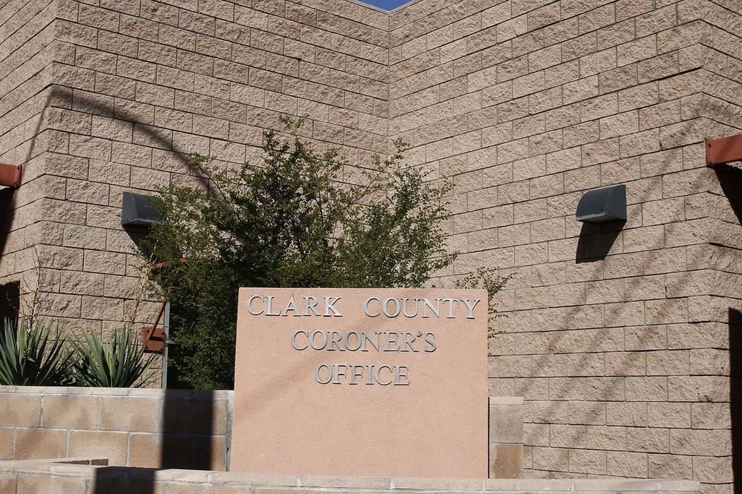 The Clark County Coroner. (Bizuayehu Tesfaye/Las Vegas Review-Journal) @bizutesfaye
