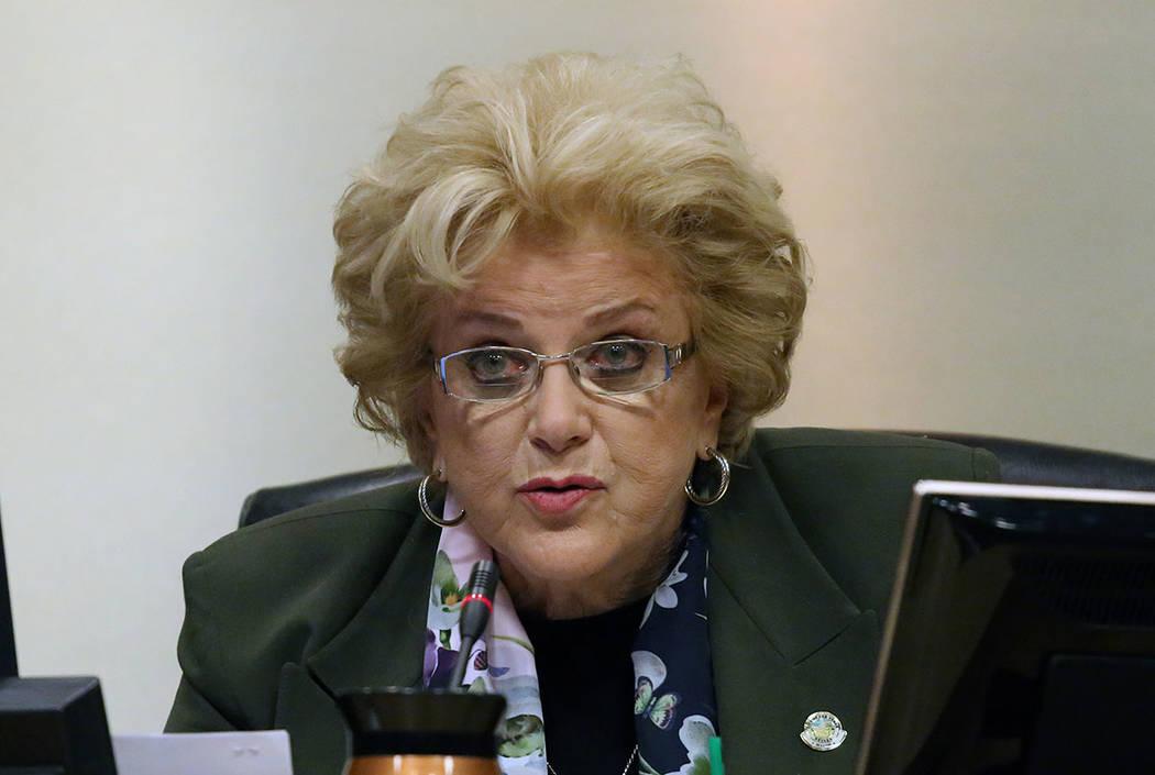 Las Vegas Mayor Carolyn Goodman speaks during the City Council meeting at Las Vegas City Hall Wednesday, Nov. 15, 2017. (Bizuayehu Tesfaye Las Vegas Review-Journal)