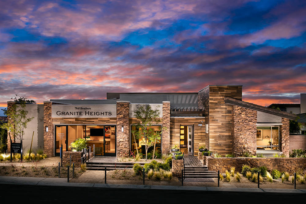 Toll Brothers showcases Granite Heights in The Cliffs in Summerlin. (Toll Brothers)
