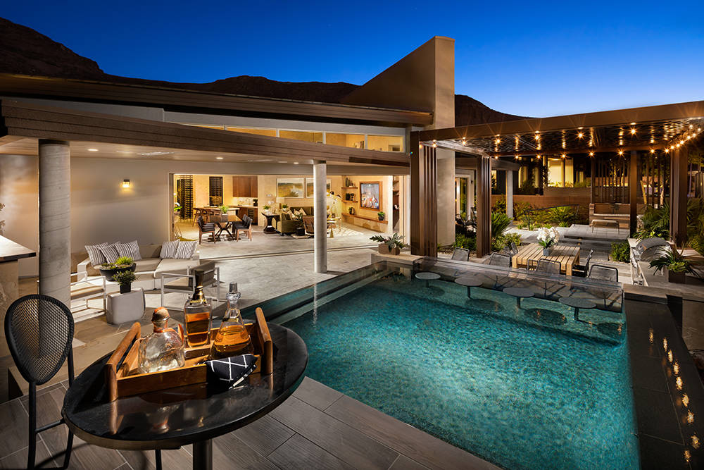 The homes at Granite Heights in The Cliffs in Summerlin offer indoor-outdoor living designs. (Toll Brothers)