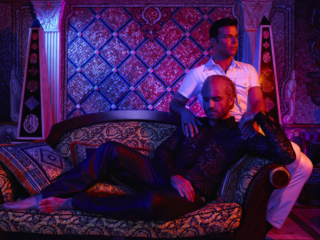 "Edgar Ramirez as Gianni Versace, Ricky Martin as Antonio D'Amico in ""The Assassination of Gianni Versace: American Crime Story."" Pari Dukovic/FX"