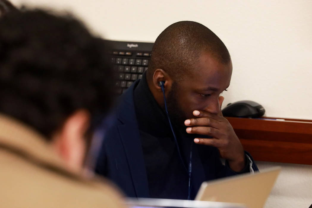 Babayemi Olakunde, a 35-year-old PhD student in public health, works on his dissertation during a writing boot camp at Lied Library in Las Vegas, Jan. 12, 2018. Andrea Cornejo Las Vegas Review-Jou ...