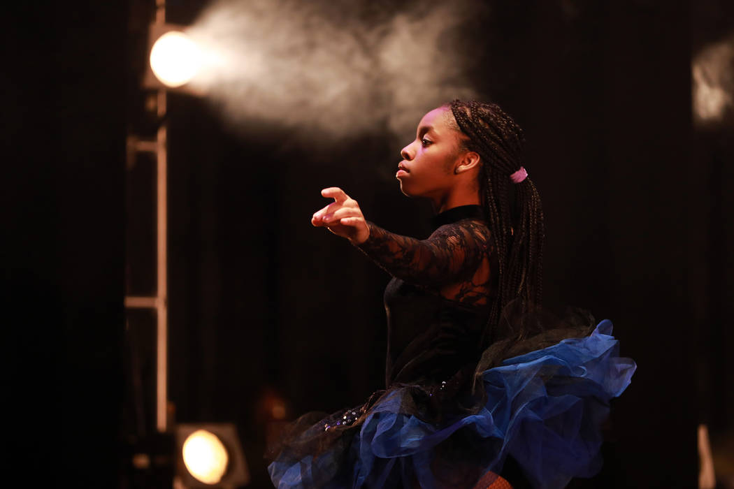 A ballet dancer performs during Peace Week 2018 at the West Las Vegas Library Theatre in Las Vegas, Jan. 14, 2018. The event celebrated the life and legacy of Dr. Martin Luther King, Jr. through h ...