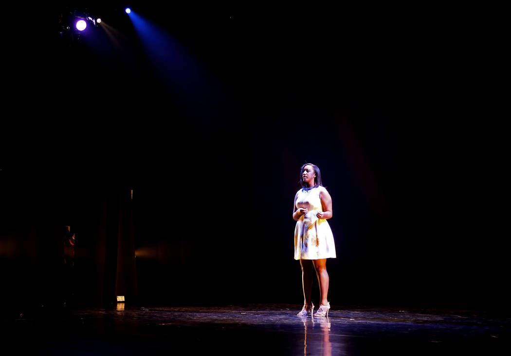 "Paris Matthews sings ""Hallelujah"" during Peace Week 2018 at the West Las Vegas Library Theatre in Las Vegas, Jan. 14, 2018. The event celebrated the life and legacy of Dr. Martin ..."
