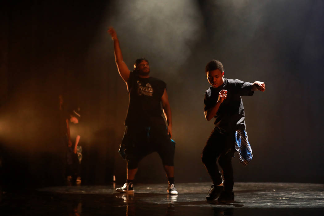 Dancers perform during Peace Week 2018 at the West Las Vegas Library Theatre in Las Vegas, Jan. 14, 2018. The event celebrated the life and legacy of Dr. Martin Luther King, Jr. through historical ...