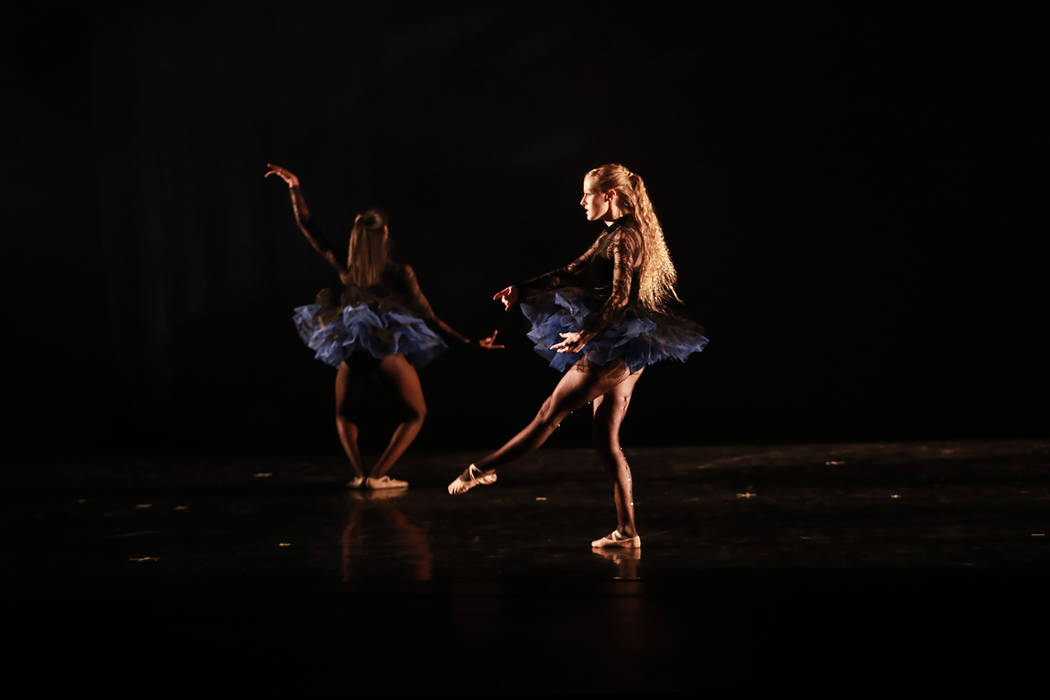 Ballet dancers perform during Peace Week 2018 at the West Las Vegas Library Theatre in Las Vegas, Jan. 14, 2018. The event celebrated the life and legacy of Dr. Martin Luther King, Jr. through his ...