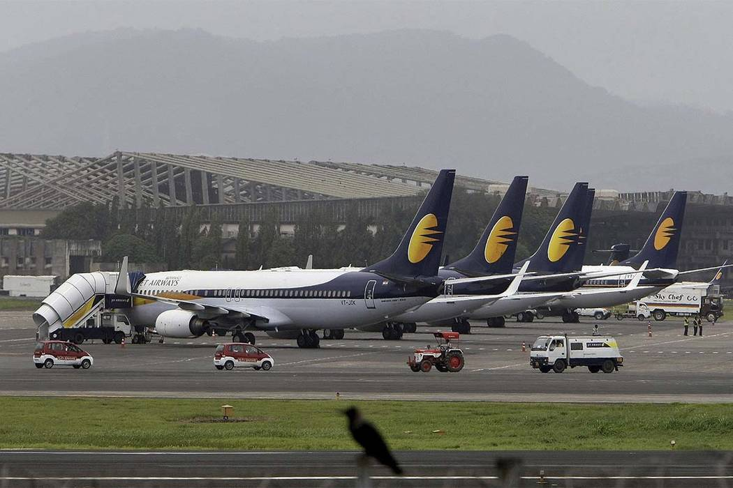 Two Jet Airways pilots were fired after they were involved in a midair cockpit fight on New Year's Day. (Rajanish Kakade/AP)