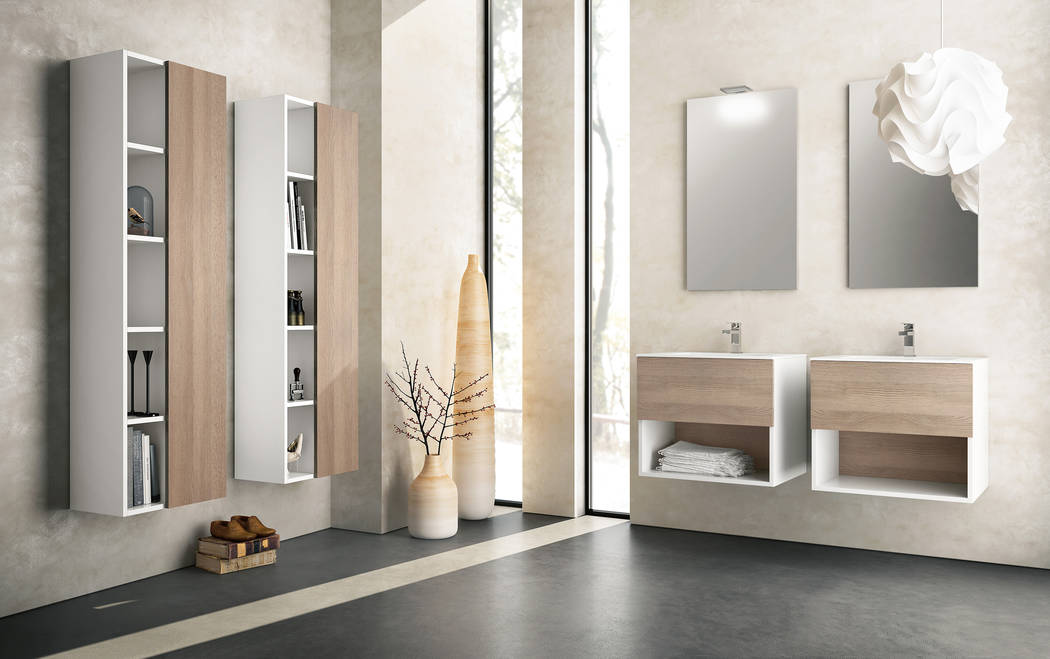 Hastings Tile & Bath Hastings' Open collection vanities feature matte white cabinets with drawer fronts in 36 colors in matte or glossy finish or in 10 wood finishes. The collection also offer ...