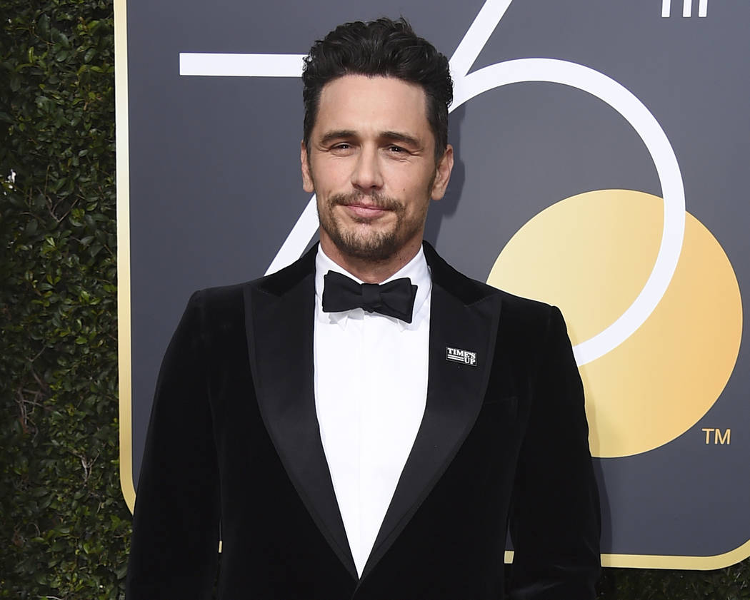 James Franco arrives at the 75th annual Golden Globe Awards in Beverly Hills, Calif. on Jan. 7, 2018. (Jordan Strauss/Invision/AP, File)